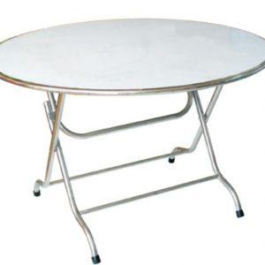 Mẫu bàn inox tròn