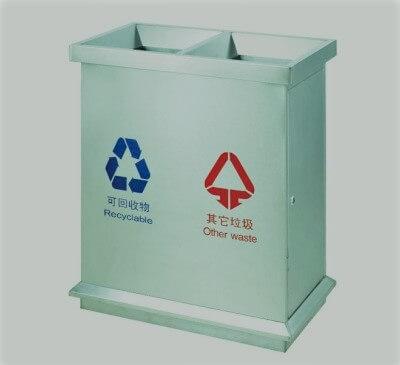 Thùng rác inox lớn 2 ngăn